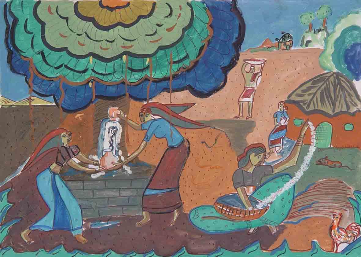壁画 儿童画 国画 1181_841
